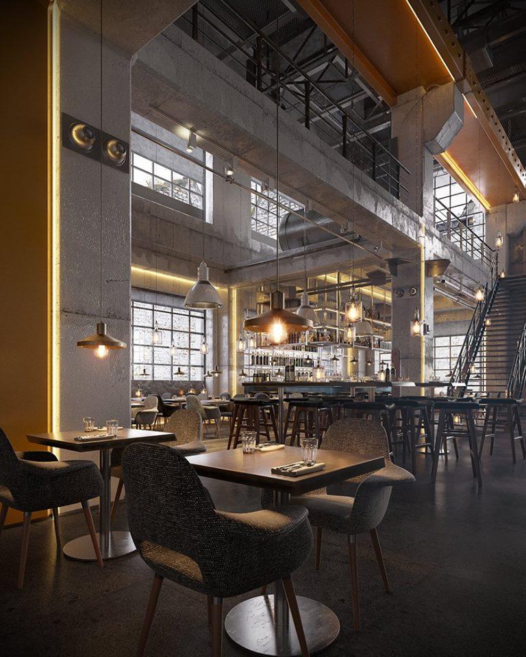 Restaurant Industrial Style